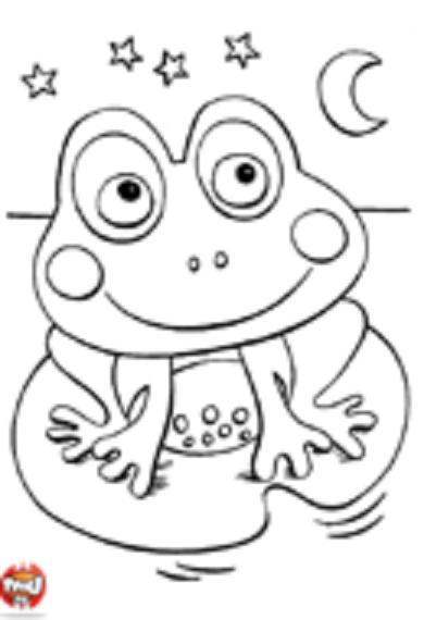 Une petite grenouille colorier - Grenouille a colorier ...